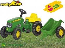 Rolly Toys Traktor Kid John Deere z Przyczepą