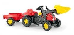 Rolly Toys Traktor Kid czerwo Przyczepa Łyżka 2-5l