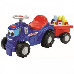 ECOIFFIER Traktor z Przyczepką + Klocki