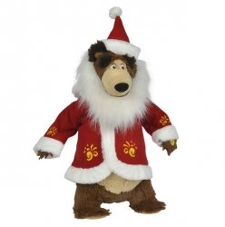 SIMBA Masza i Niedźwiedź Świąteczny Misza, 43cm