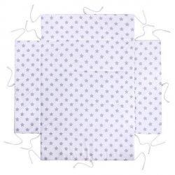 Lulando Kojec 100x100 biały w szare gwiazdki