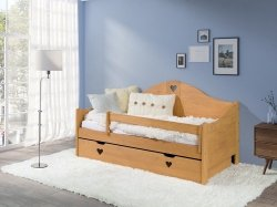 Łóżko dziecięce Zosia olcha 160x80 + materac