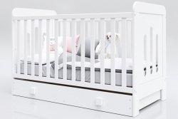 Łóżeczko niemowlęce tapczan 2w1 z szufladą Zuza 120x60 biały
