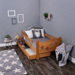 Łóżko dziecięce sosnowe Chrisi kolor olcha 160/80 + Materac