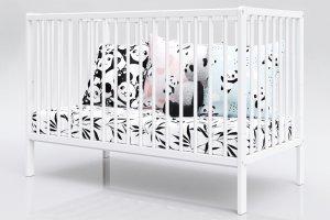 Łóżeczko niemowlęce tapczan 2w1 DOMINIK biały 120x60