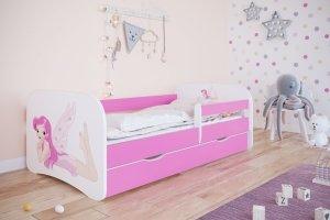 Łóżko dziecięce WRÓŻKA różne kolory 140x70 cm