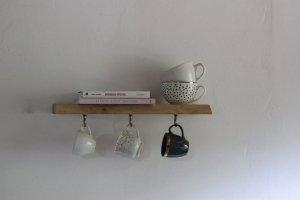 Półka kuchenna na kubki DĘBOWA mini