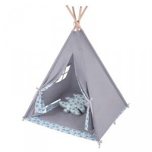 LULANDO Namiot Tipi - Szary + Jeże