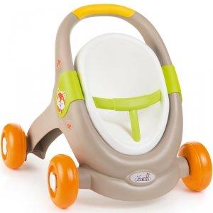 Smoby MiniKiss 3w1 Chodzik Pchacz Wózek