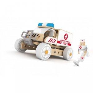 Klocki Konstrukcyjne Ambulans Karetka Samochodzik Dla Dzieci Classic World Drewniany