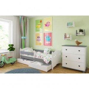 Łóżko dziecięce LAURA z dwiema szufladami - różne kolory