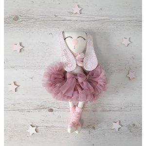 Maskotka personalizowana  króliczek baletnica Oliwka