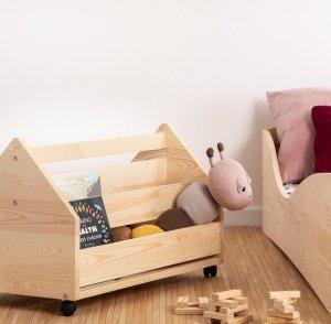 Drewniana skrzynia na zabawki KUTU 1 L