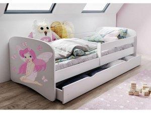 Łóżko dziecięce WRÓŻKA Z MOTYLKAMI 140x70 różne kolory