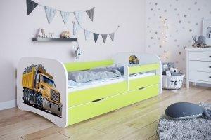 Łóżko dziecięce CIĘŻARÓWKA różne kolory 160x80 cm