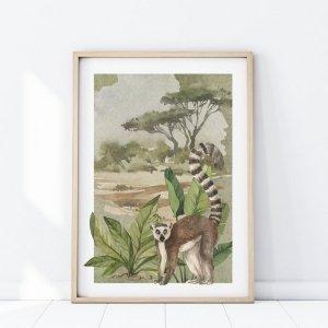 Plakat Safari LEMUR P349