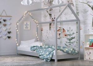Łóżko dziecięce BELLA Domek szary