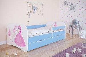 Łóżko dziecięce KSIĘŻNICZKA I KONIK różne kolory 160x80 cm