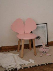 Krzesełko dziecięce MYSZKA różowe
