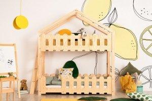 Łóżko piętrowe dziecięce DOMEK KAIKO B  różne rozmiary