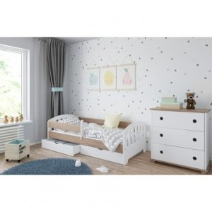 Łóżko dziecięce CLASSIC z dwiema szufladami - różne kolory