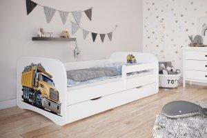 Łóżko dziecięce CIĘŻARÓWKA różne kolory 140x70 cm