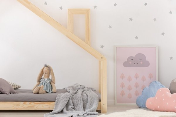 Łóżko dziecięce drewnine DOMEK Mila DMS różne rozmiary