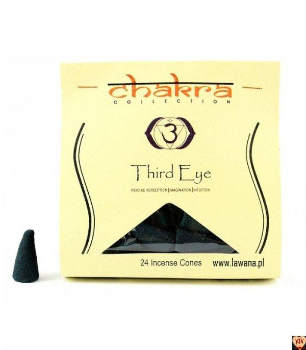 Kadzidła stożkowe THIRD EYE na 6 czakrę 24 sztuki Chakra Collection