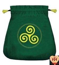 Aksamitny woreczek Celtic Triskel