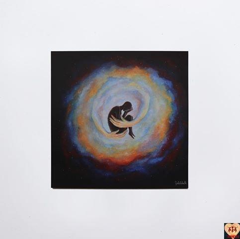 Pocztówka Universe Hug Art