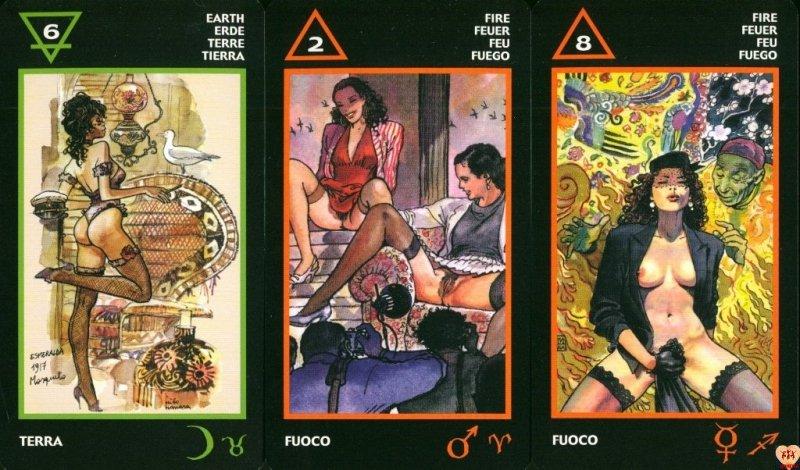 Tarot of Manara Erotic Tarot, instr.pl