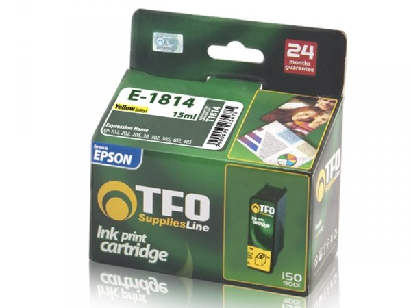Tusz TFO E-1814 zamiennik do Epson T1814 XL Yellow