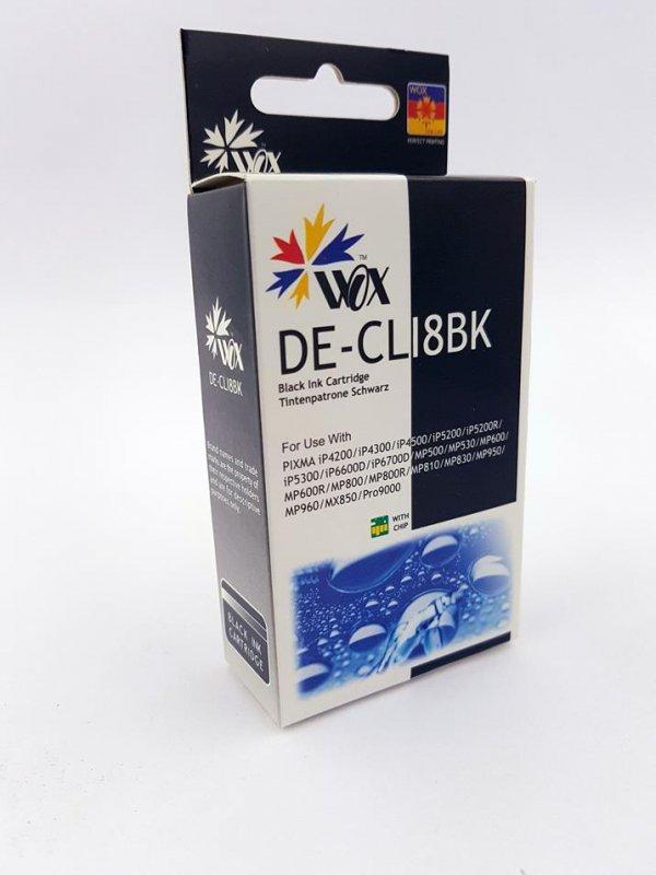 Tusz Wox Black Canon CLI 8BK z chipem zamiennik CLI8BK