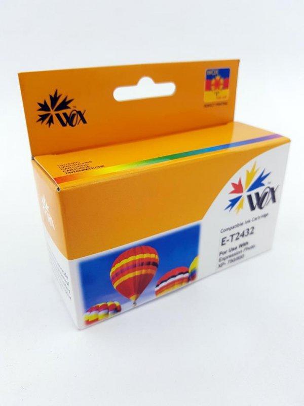 Tusz Wox Cyan Epson T2432 zamiennik T24324010
