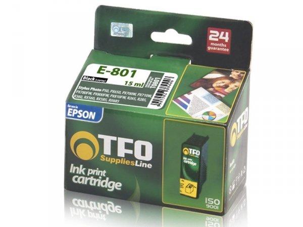 Tusz TFO E-801 czarny zamiennik do Epson T0801 Black