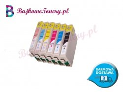 KOMPLET TUSZY EPSON T0801, T0802, T0803, T0804, T0805, T0806