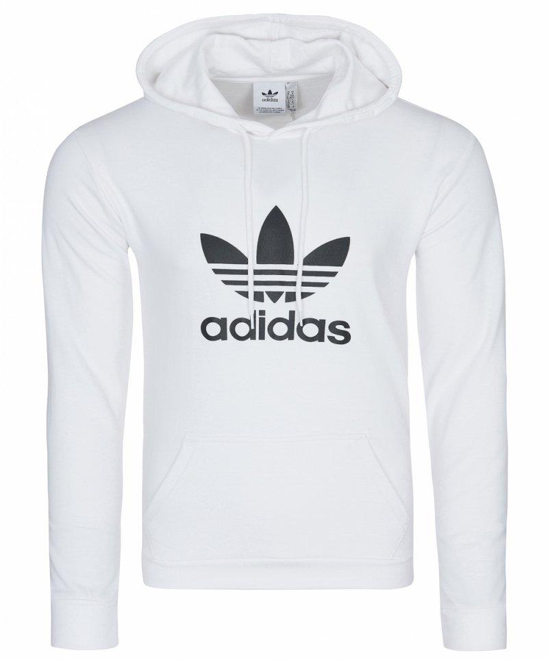biała bluza z kapturem damska adidas