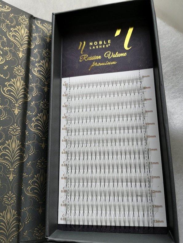 Wachlarze rzęs kępki Russian Volume 3D C 0,07