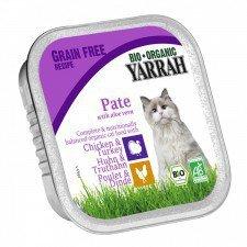YARRAH bio pasztet dla kota z kurczakiem + INDYK 100g