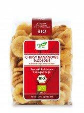 BIO PLANET bio chipsy bananowe SŁODZONE 150g