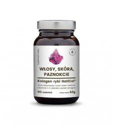 Kolagen rybi NatiCol® - włosy, skóra, paznokcie (62g) - ok. 90 tabletek Aura