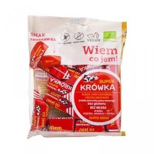 Cukierki krówki smak truskawkowy bez mleka BIO 150 g