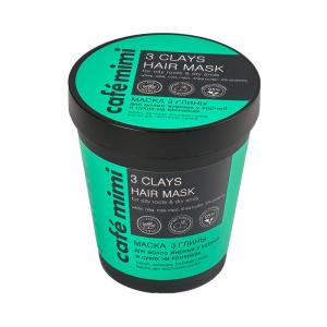 Maska do włosów 3 glinki 220 ml
