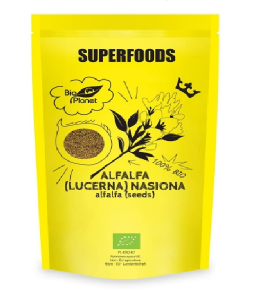Alfalfa Lucerna Nasiona Bio 200 g Bio Planet