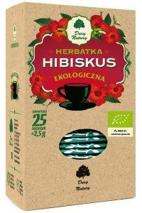 HERBATKA HIBISKUS BIO (25 x 2,5 g) - DARY NATURY