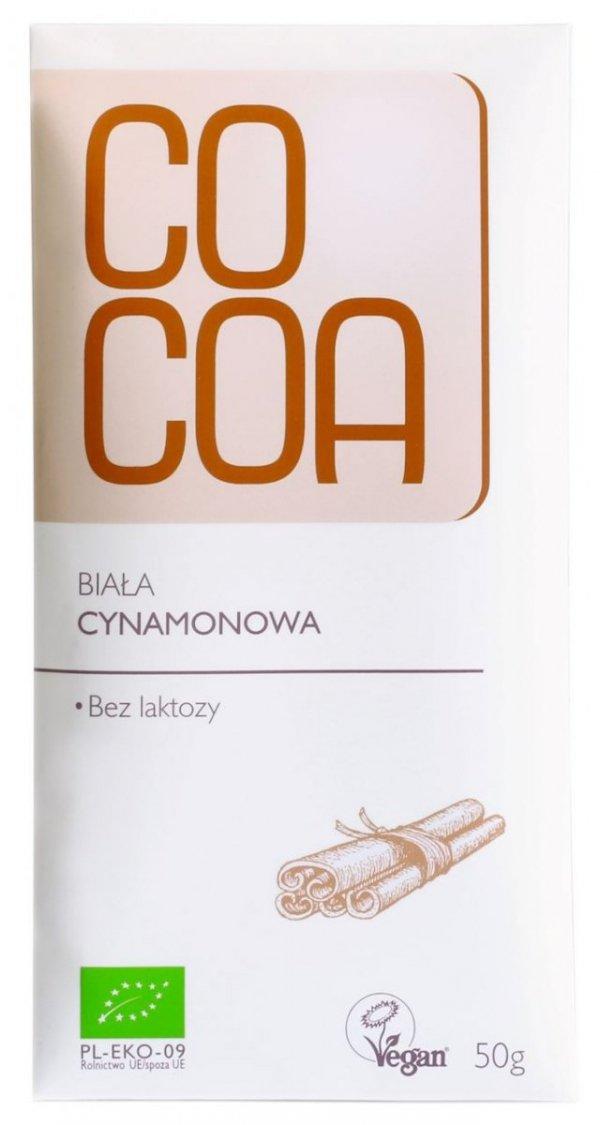 TABLICZKA BIAŁA CYNAMONOWA BIO 50 g - COCOA