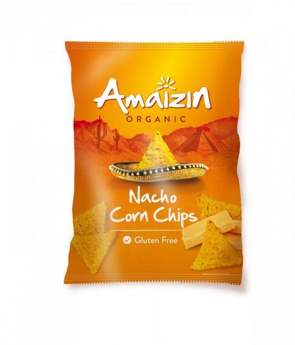 AMAIZIN bio nachos kukurydziane bezglutenowe SEROWE 150g