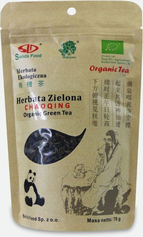 HERBATA ZIELONA CHAOQING BIO 70 g - SOLIDA FOOD