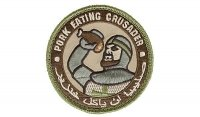 MIL-SPEC MONKEY - Morale Patch - Pork Eating Crusader - Multicam