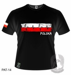 Koszulka Kardiogram Polska PAT-14 [rozmiar L]